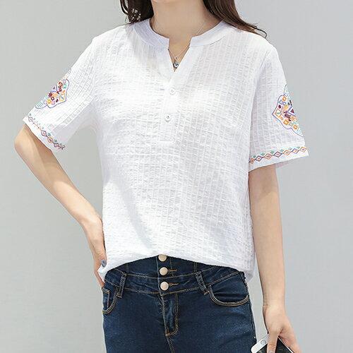*ORead*棉麻短袖T恤(4色M~5XL) 1