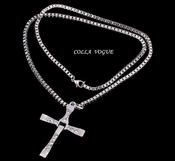 ✻蔻拉時尚✻ [ASB56] 歐美流行 時尚閃亮十字架造型項鍊 個性 虔誠
