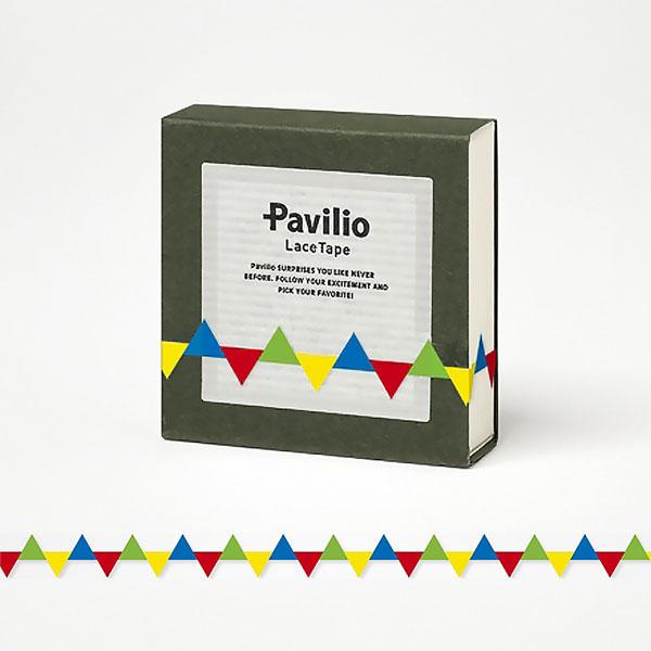 【日本Pavilio】風格膠帶MINI系列F-MI09GY三角旗(黃)捲