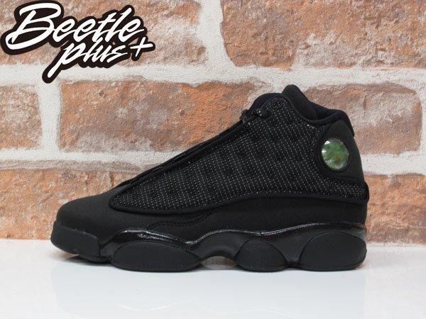 女鞋 BEETLE AIR JORDAN 13 BG BLACK CAT 黑貓 3M 麂皮 籃球鞋 884129-011 D-674