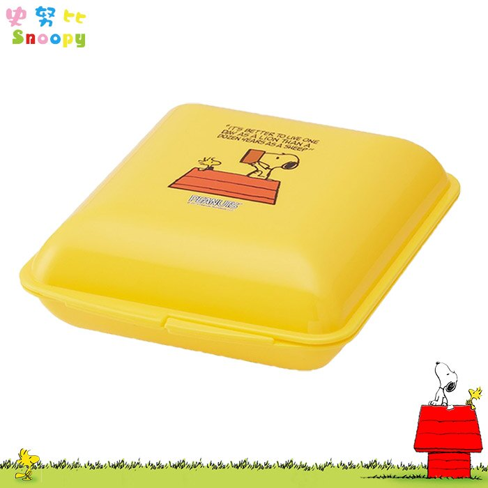 史努比 SNOOPY 壽司盒 吐司盒 便當盒 保鮮盒 餐具 日本進口正版 312021