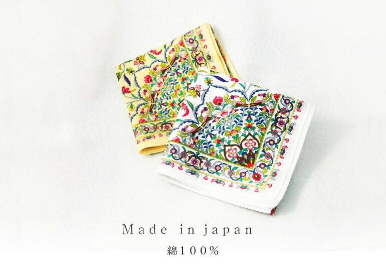 日本集采苑 - Kaen Series 華苑手帕/方巾/頭巾(白)《日本設計製造》《全館免運費》,親自手作專業的手染技法與縫紉