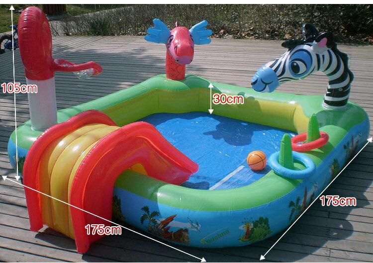 多功能充氣動物戲水池 兒童游泳池 噴水池