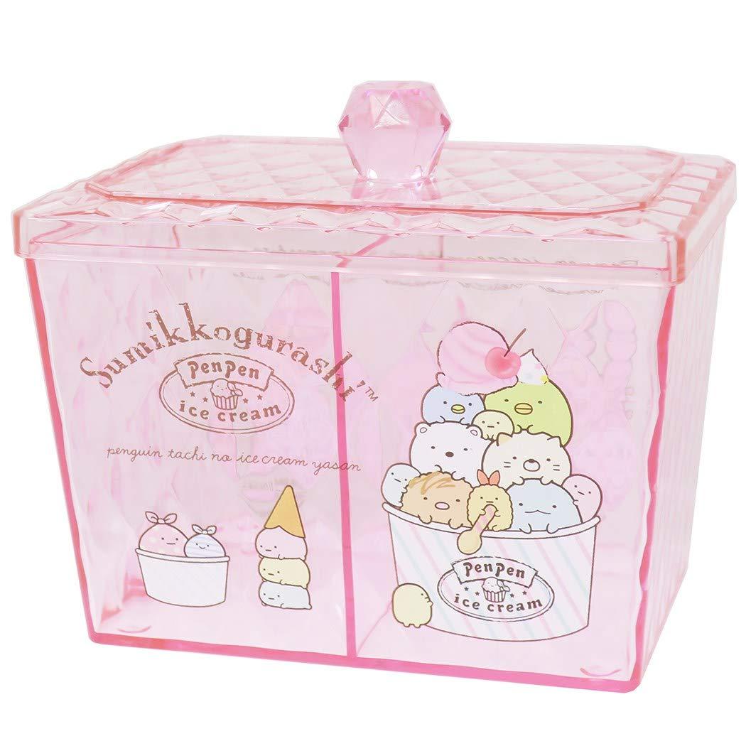 X射線【C481803】角落生物 Sumikko Gurashi 透明小物收納罐,置物櫃 收納櫃 收納盒 抽屜收納盒 收納箱 桌上收納盒