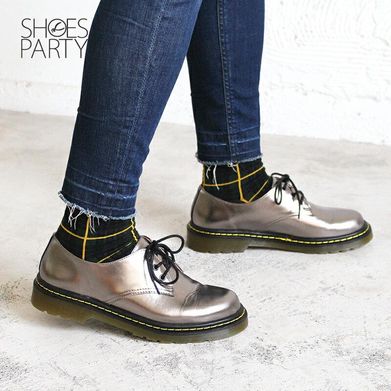【C2-17122L】全真皮軟鞋墊3孔綁帶厚底休閒鞋_Shoes Party 1