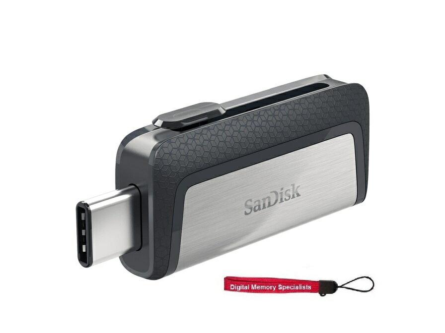 SanDisk 256GB USB3.1 150MB/s OTC USB Type-C and Type-A 256G Ultra Dual USB-C Flash Drive SDDDC2-256G-G46 + USB Lanyard 0