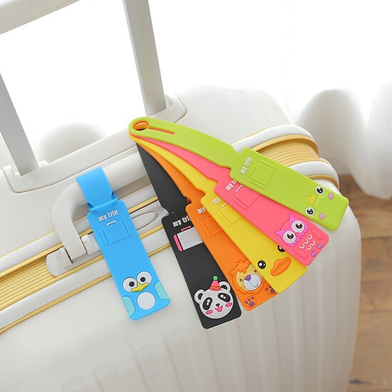 ♚MY COLOR♚可愛動物矽膠行李吊牌 卡通 韓國 創意 乘務員 行李牌 標籤 登機牌 旅行箱 吊牌【Z46】