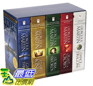 [106美國直購] 權利遊戲 Game of Thrones 5-copy boxed set (George R. R. Martin Song of Ice and Fire Series)
