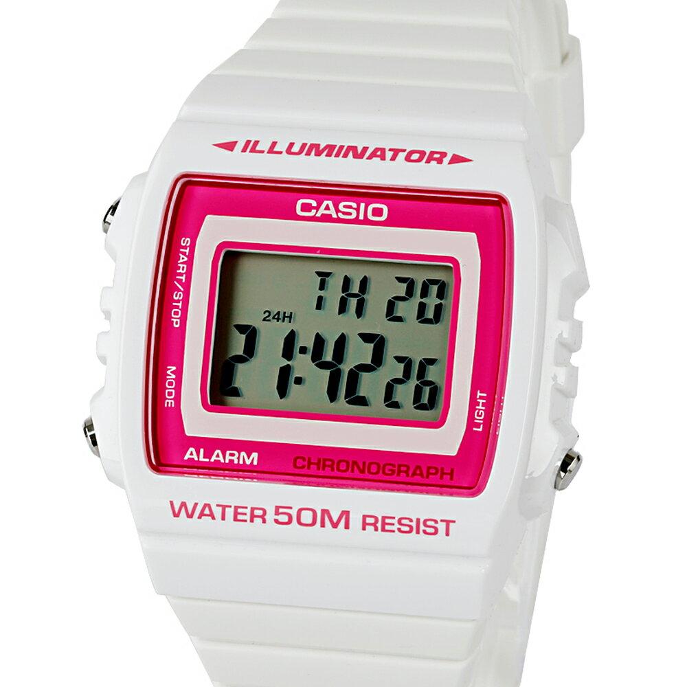 CASIO 卡西歐 W-215H 繽紛個性亮彩LED多功能防水電子錶 0