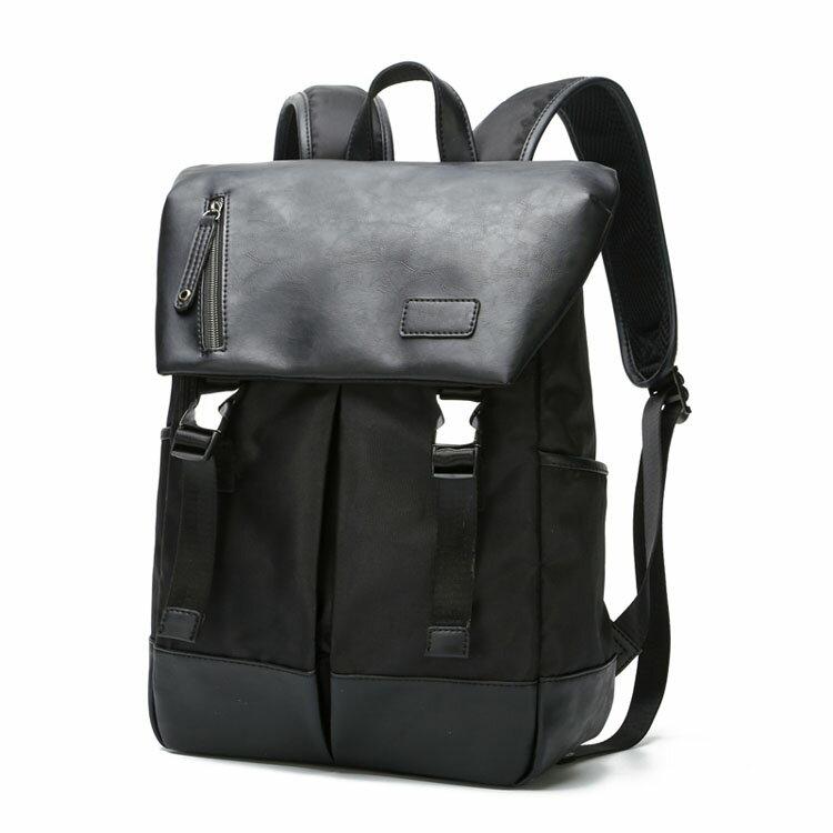 【5折超值價】經典街頭潮流風格皮質後背包