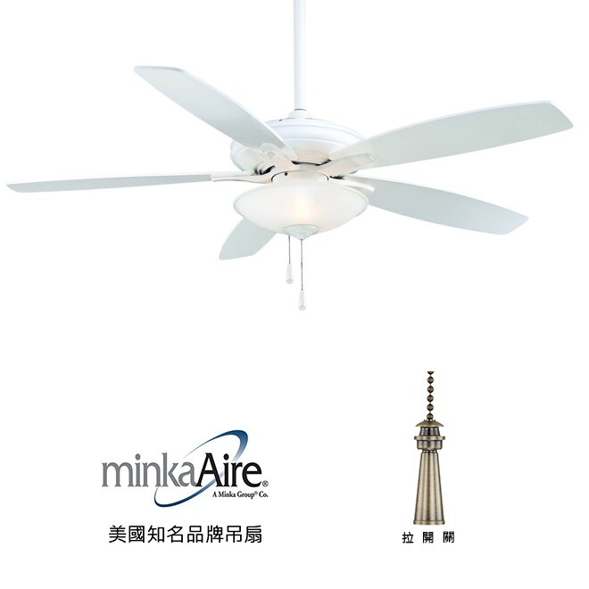 <br/><br/>  [top fan] MinkaAire Mojo 52英吋吊扇附燈(F522-WH)白色<br/><br/>