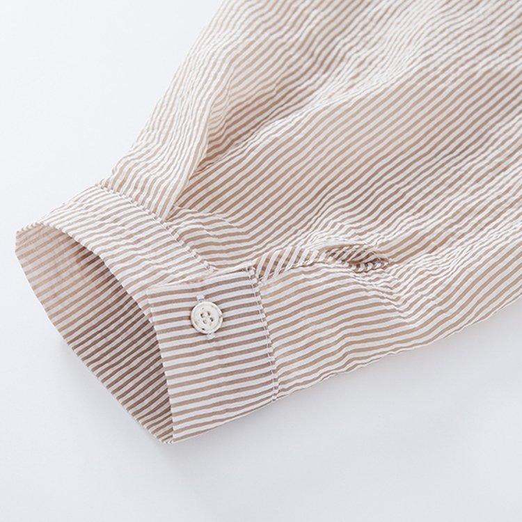 雪紡襯衫-長款雪紡襯衫寬鬆防曬中長款薄款襯衫外套 9