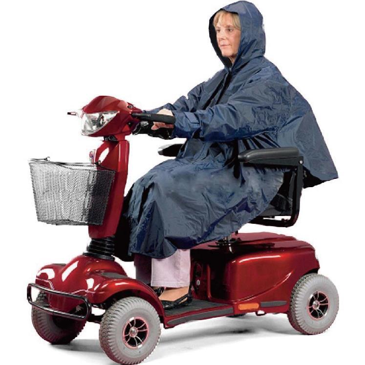 [感恩回饋降價中] 電動代步車用雨衣 - 斗篷式/有袖 銀髮族 行動不便者使用
