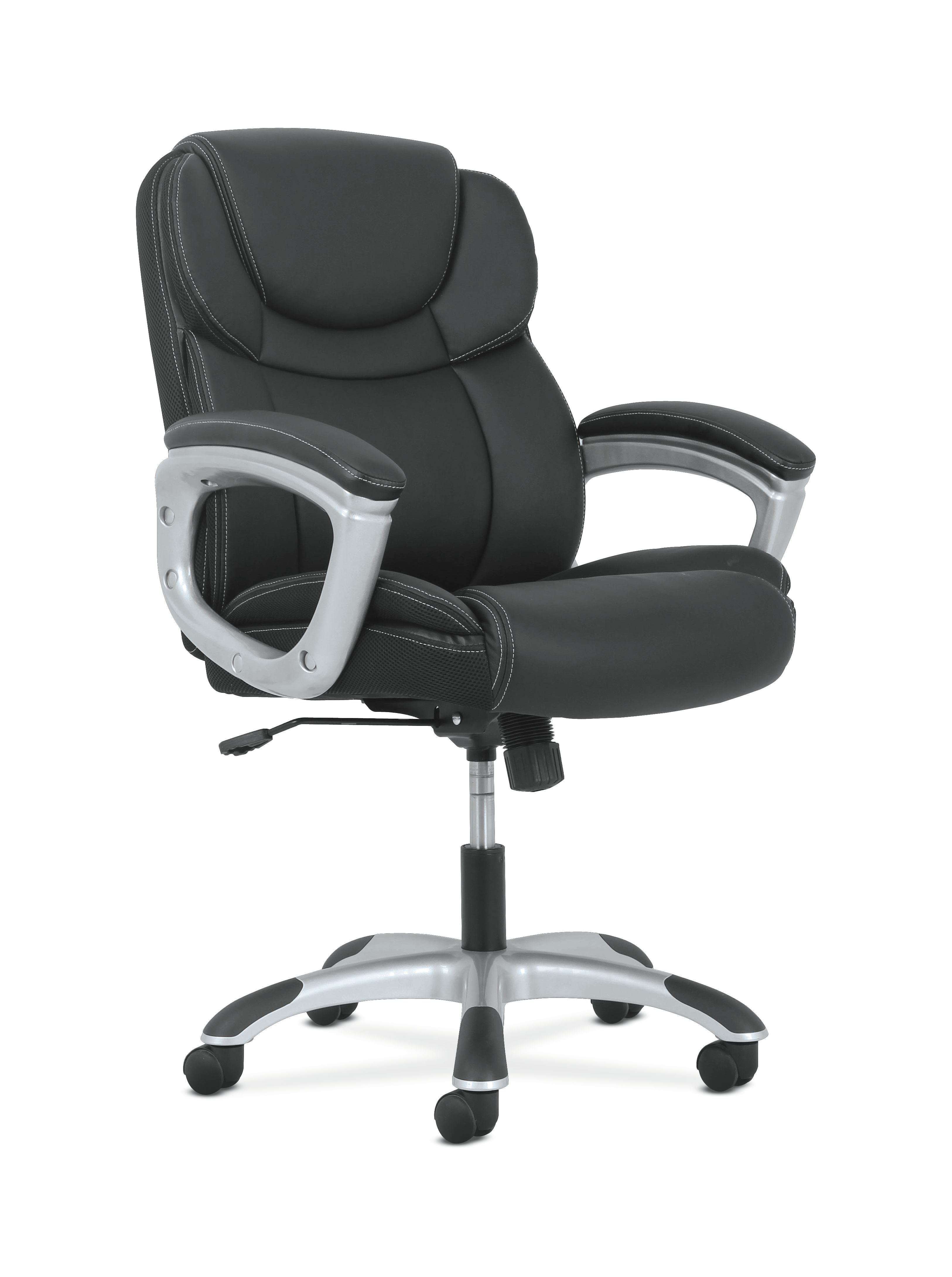 Sadie Leather Executive Computer Office Chair With Arms Ergonomic Swivel Chair Hvst306