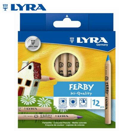 【德國LYRA】3621120三角原木色鉛筆(12cm)12色盒