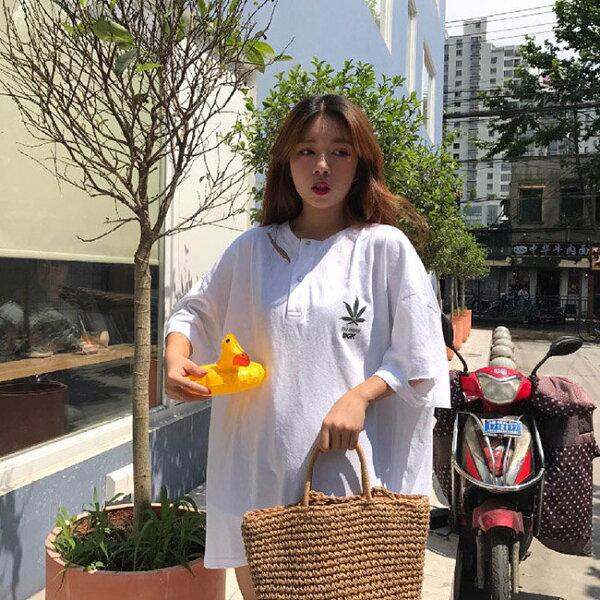 T恤素色印花割破不規則個性短袖T恤【MYDS152】BOBI0621