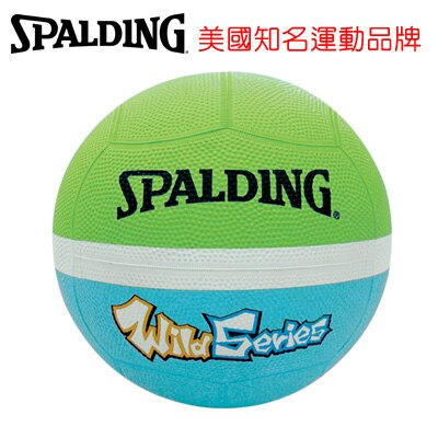 永昌文具【SPALDING】 斯伯丁 躲避球系列 SPB83002 Wild 12片軟躲(淺綠/藍色) 3號 /個