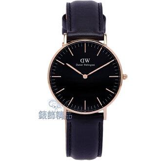 【錶飾精品】現貨 瑞典DW手錶 DW00100139 玫瑰金SHEFFIELD黑色皮錶帶36mm全新原廠正品 生日 禮物