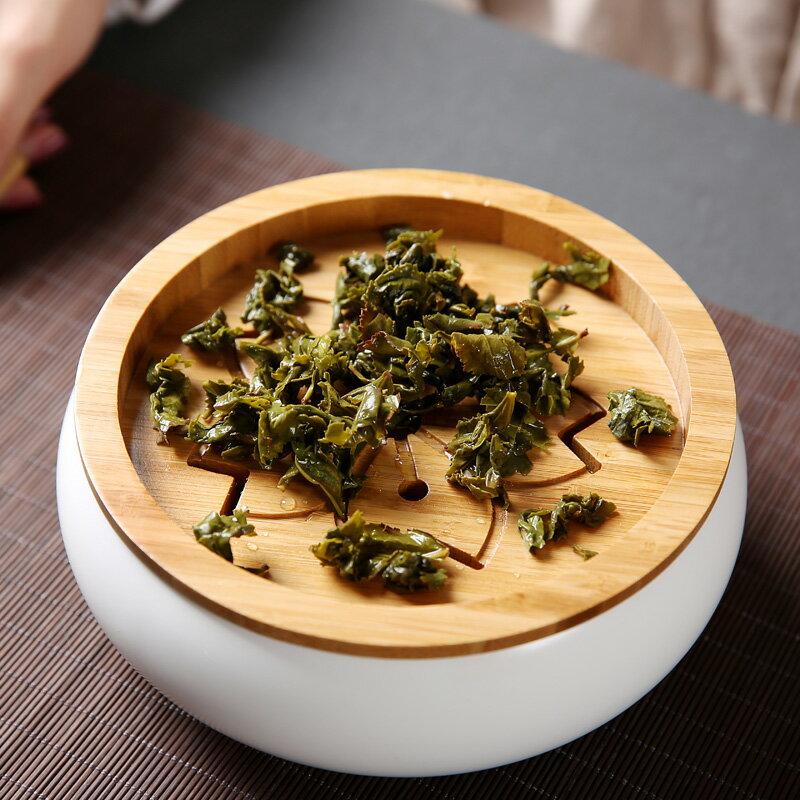 傳藝窯陶瓷建水日式小號茶洗水盂茶渣桶竹制脂白水洗功夫茶具配件