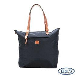 【米蘭BRIC'S】經典尼龍女士休閒 - 深海藍 輕質手提袋 超大空間