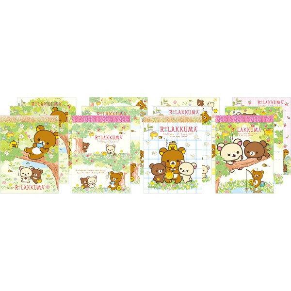 【真愛日本】16031500034  懶熊便條本小-森林4款 拉拉熊 懶熊 文具 事務用品 便條紙 MEMO