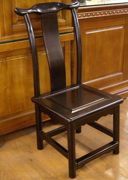 ~ 尚品傢俱~658~07黑檀官帽全實木椅 仿古椅 休閒椅 輔助椅