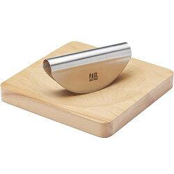 《KitchenCraft》Paul櫸木砧板+香料彎刀