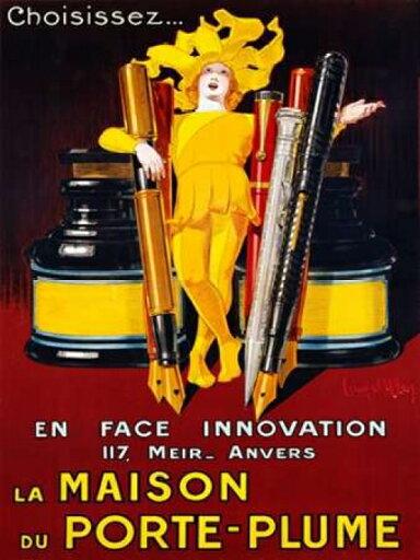 La Maison du Porte-Plume 1924 Rolled Canvas Art - Jean DYlen (11 x 14) 000e689f00e10aaccf2349de1f18adef