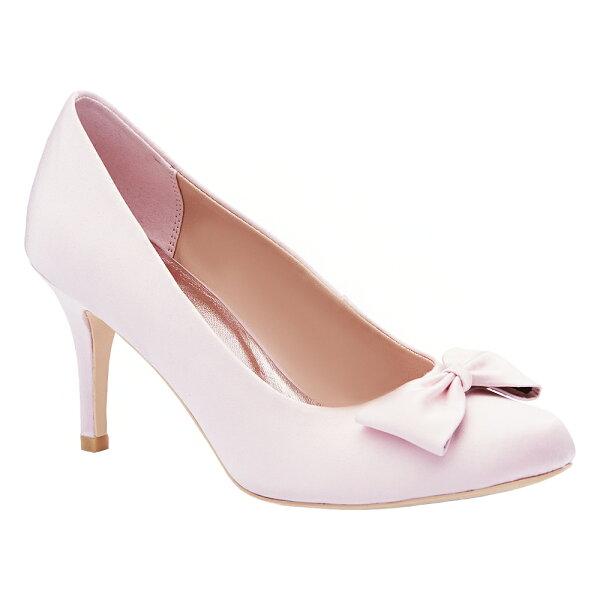 2MUCH蝴蝶結絲綢禮鞋-粉色(35-40)