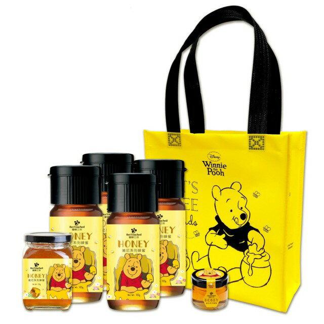蜜蜂工坊-迪士尼小熊維尼系列蜂蜜-超值優惠六件組( 附小熊維尼蜂蜜提帶 ) 1