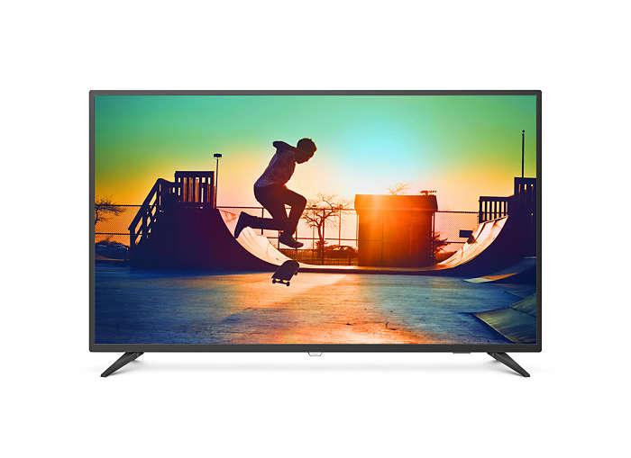 飛利浦大型智慧型顯示器50PUH6183/96 (50吋 4K Ultra HD LED) 4K LED電視,福利品不介意者再下單