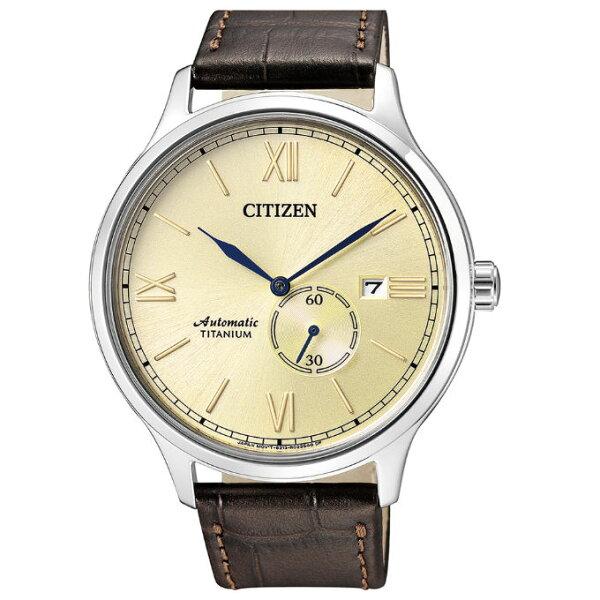 CITIZEN星辰錶NJ0090-13P現代簡約機械鈦金屬腕錶42mm