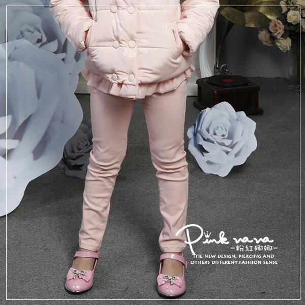 Pink Nana:PINKNANA童裝女童素色長褲鉛筆褲28135