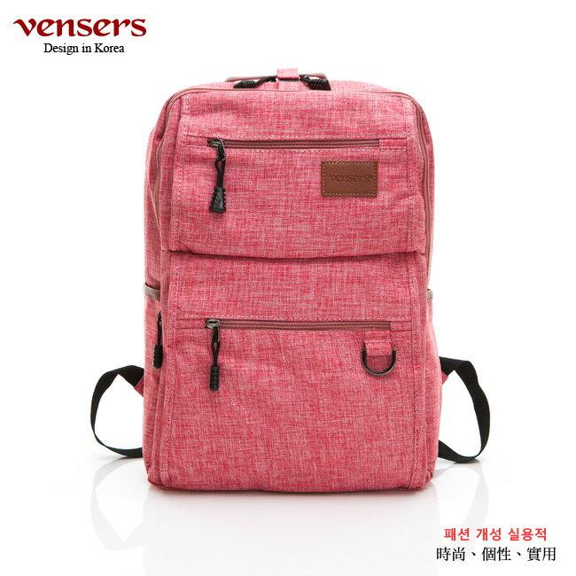 【vensers】 簡約丹寧牛仔後背包 (R00066104粉色) 0