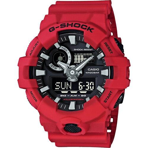 CASIO 卡西歐 G-SHOCK 粗曠感雙顯式運動男錶 防水手錶 GA-700-4ADR 原廠公司貨 附保證卡 保固期一年 手錶 運動錶 電子錶