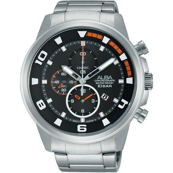 ALBA YM92-X269D(AF8U07X1)即動宣言時尚限量套裝計時腕錶/黑面47mm