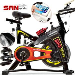 【SAN SPORTS】騎士競速飛輪車(後避震彈簧+皮帶傳動)動感飛輪健身車.公路車自行車訓練機台.腳踏車美腿機單車.運動健身器材.推薦哪裡買專賣店ptt C192-S306