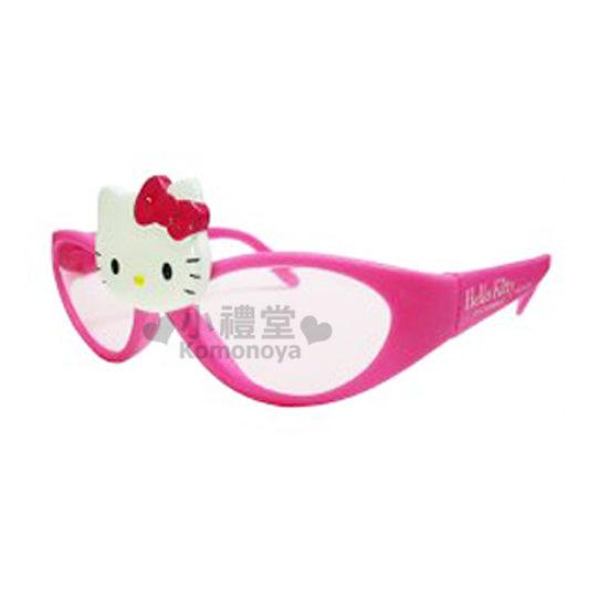 〔小禮堂〕Hello Kitty 太陽眼鏡玩具《粉.大臉.粉鏡片》適合3歲以上孩童