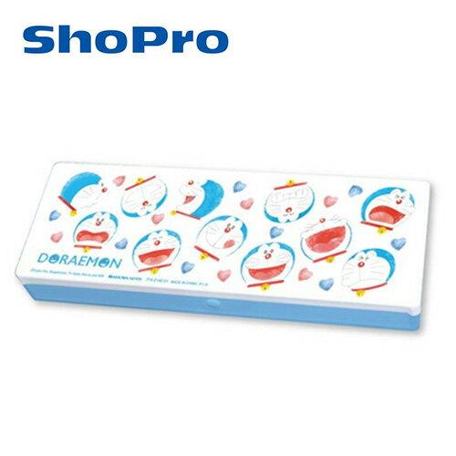 大臉款【日本正版】哆啦A夢塑膠鉛筆盒收納盒小叮噹DORAEMON-774051