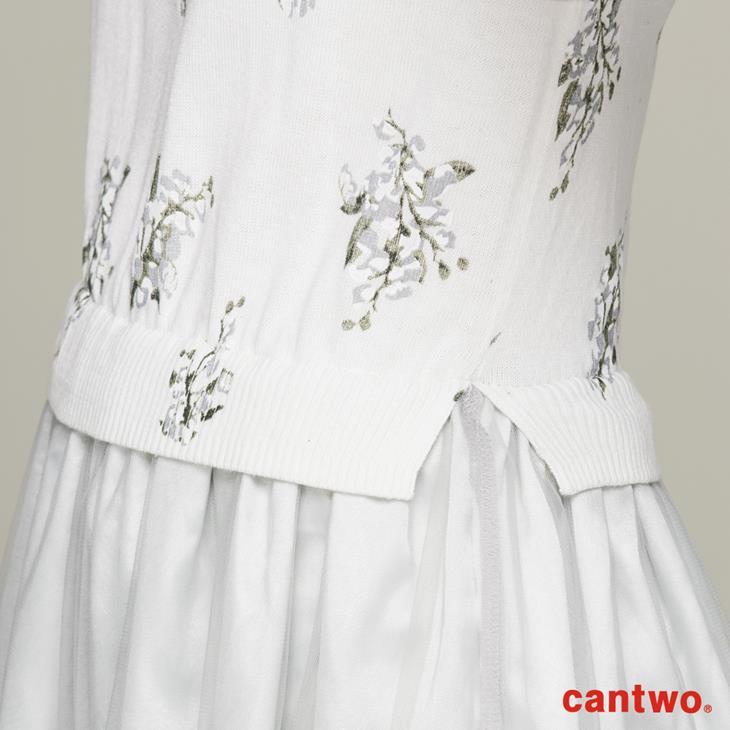 cantwo滿版印花針織洋裝(共二色) 4