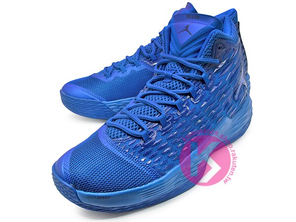 2017 NBA 明星前鋒 Carmelo Anthony 代言 NIKE JORDAN MELO M13 寶藍 藍色 飛人 KURIM 科技鞋面 FLIGHTSPEED + ZOOM AIR 避震科技傳導 XDR 耐磨橡膠外底 NYC 紐約尼克隊 (881562-402) 0217 1