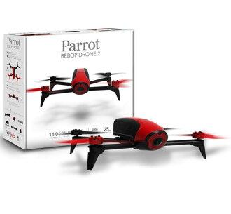 ➤空拍入門【和信嘉】Parrot Bebop Drone 2 四軸空拍機(紅) 單機版 HD高畫質 手機 / 平板遙控 無人機 公司貨 原廠保固一年