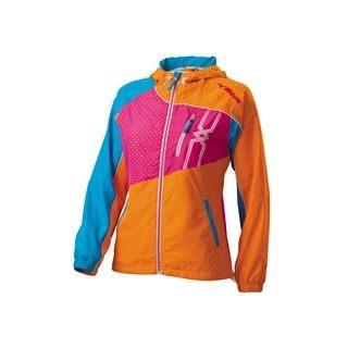 MIZUNO美津濃女休閒平織外套D2TC428152(橘藍)慢跑休閒外套【胖媛的店】