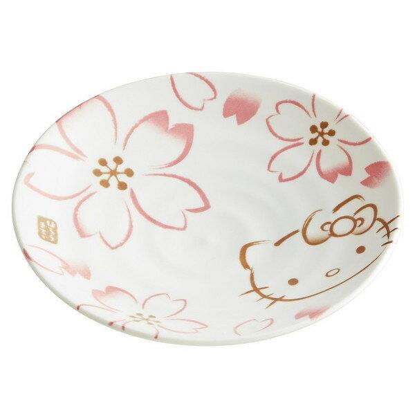 【真愛日本】16050500031日本製彩繪盤L-KT櫻花   三麗鷗 Hello Kitty 凱蒂貓   櫻花系列  杯盤組   日本製