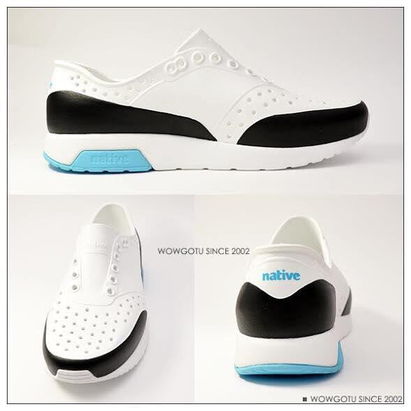 NATIVE  SHOES - LENNOX BLOCK-新款雷諾混色系列SHELL WHITE / SURFER BLUE / JIFFY BLOCK 4