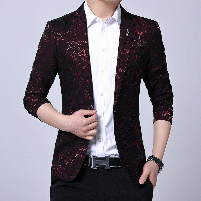 2021新款春秋季新款休閒西服男韓版修身青年時尚潮流小西裝外套