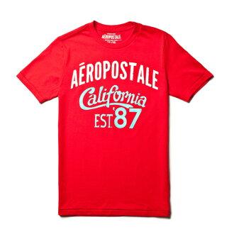 【 Aéropostale 】加州EST.87 短袖上衣 (紅色)