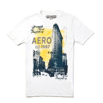 【 Aéropostale 】紐約城景EST.87 短袖上衣 (白色)