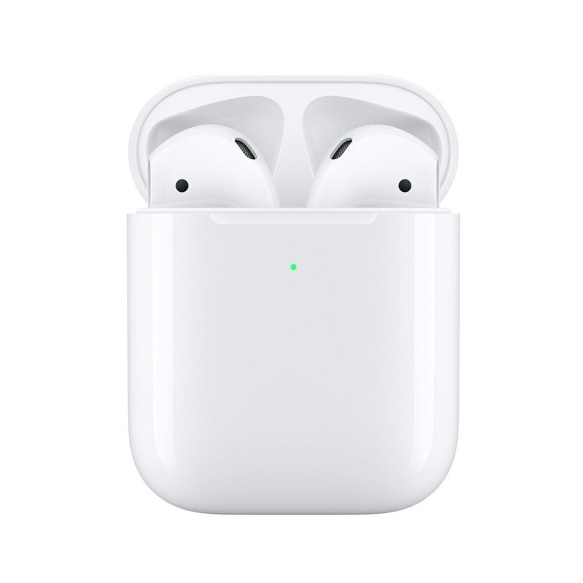 【台灣公司貨】蘋果 Apple AirPods 二代 無線藍牙耳機 無線 藍牙 耳機 Siri 音樂自動播放 (搭配有線充電盒)