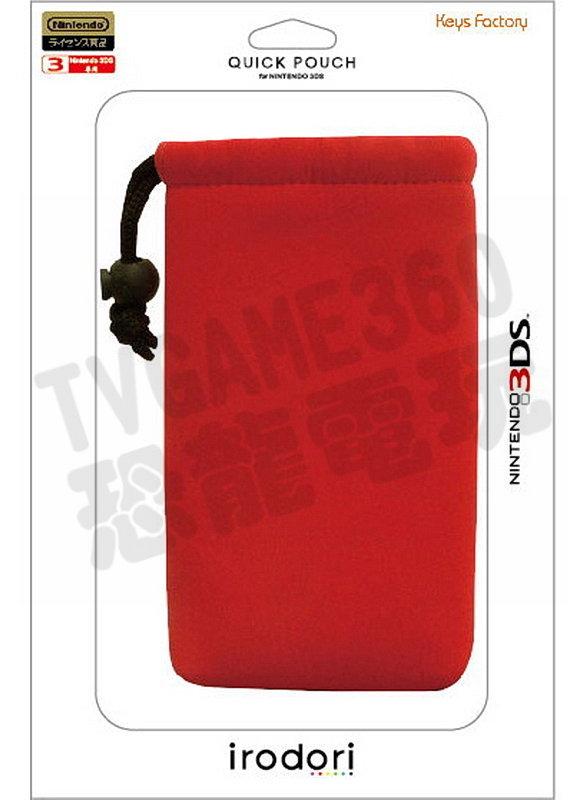 【出清商品】任天堂 3DS N3DS Keys Factory 主機包 收納袋 束口包 紅 全新裸裝【台中恐龍電玩】